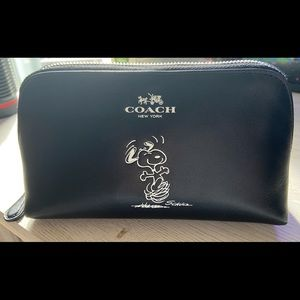 Slightly used Coach cosmetic bag